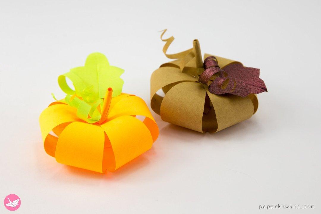 Easy Paper Pumpkin Tutorial & Free Template via @paper_kawaii