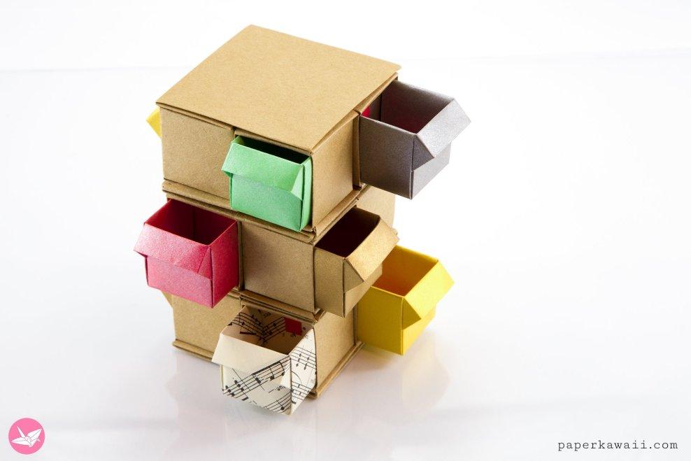 Origami Tower Of Drawers Tutorial via @paper_kawaii