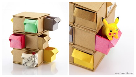 Origami Tower Of Drawers Tutorial