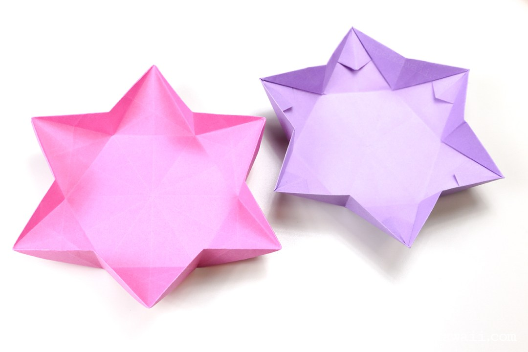 6 Point Star Dish via @paper_kawaii