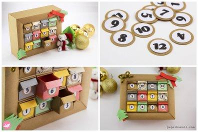 DIY Origami Advent Calendar Box Tutorial