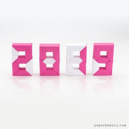 3D Modular Origami Numbers Tutorial - Digital 0 to 9 via @paper_kawaii