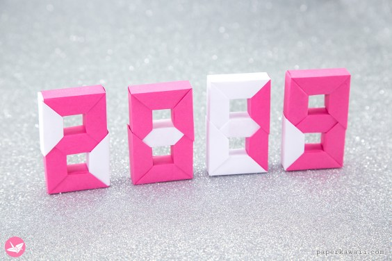3D Origami Numbers Tutorial – 2019 Happy New Year!