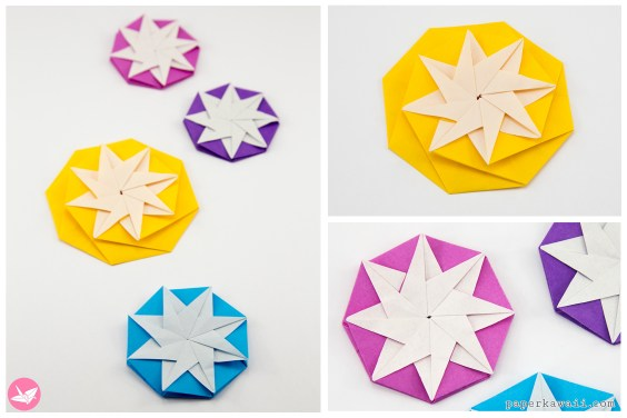 Origami Compass Star Tato Variation Tutorial