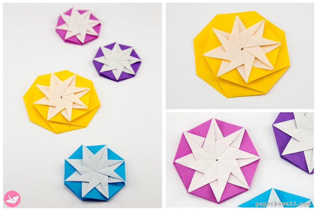 Modular Origami Star Tutorial (Salman Ebrahimi) via @paper_kawaii