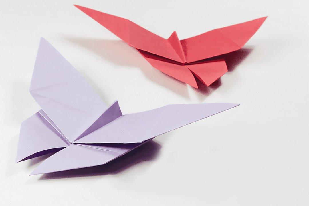 Butterfly via @paper_kawaii