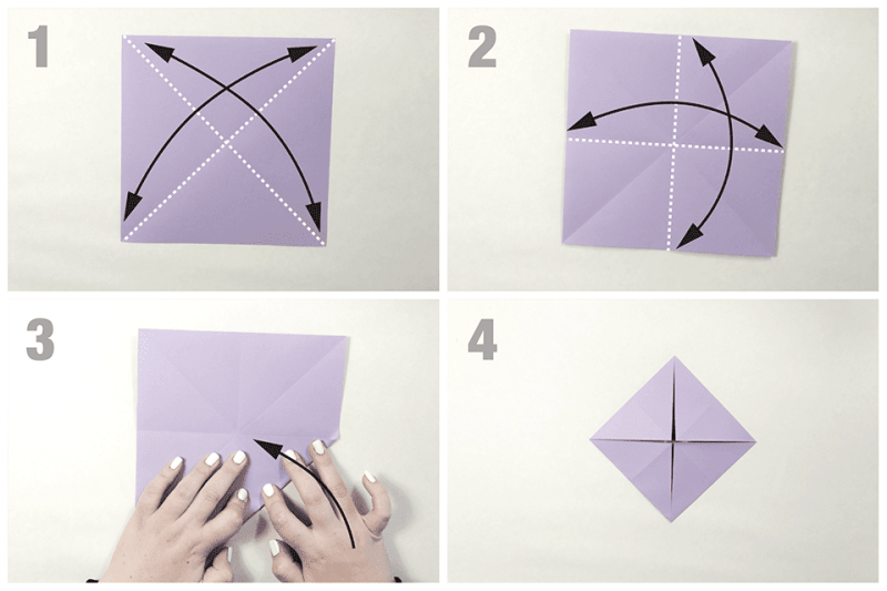 Origami Butterfly and Water bomb Diagram | 종이 접기 튜토리얼 ... | 533x800