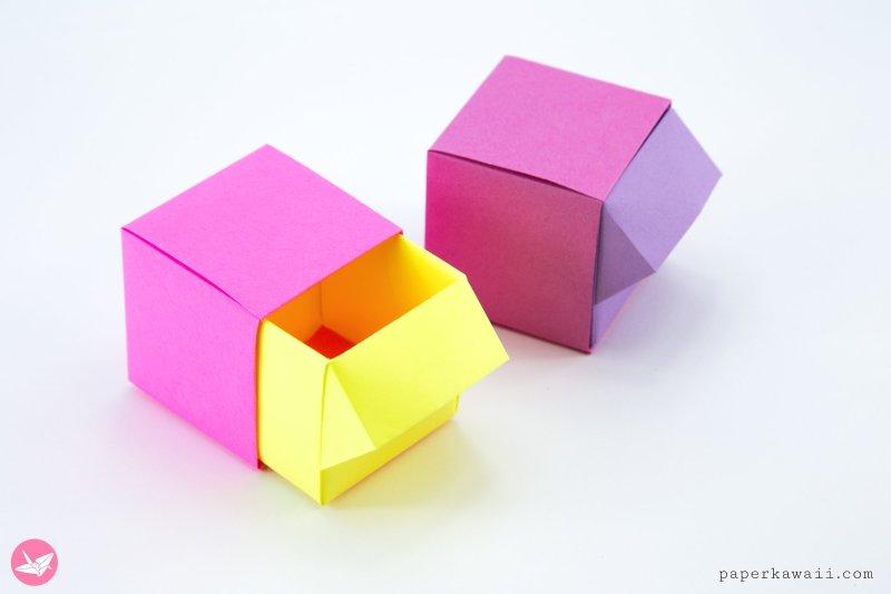 Origami Drawer Box Tutorial via @paper_kawaii