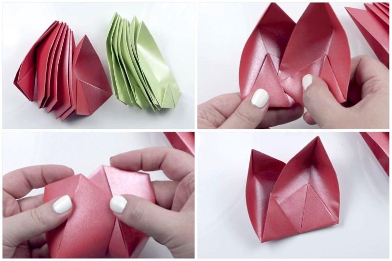 8 Petal Lotus Flower via @paper_kawaii