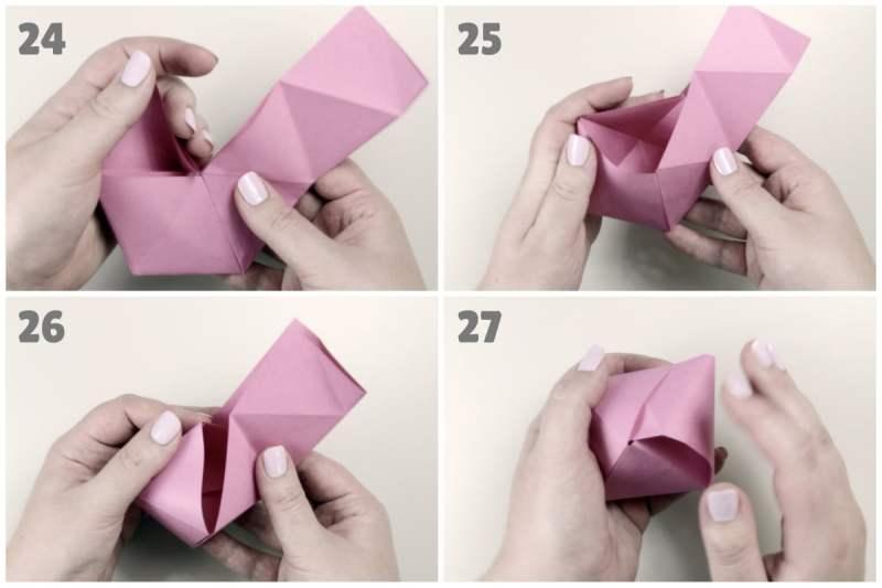 Octahedron Box / Decoration via @paper_kawaii