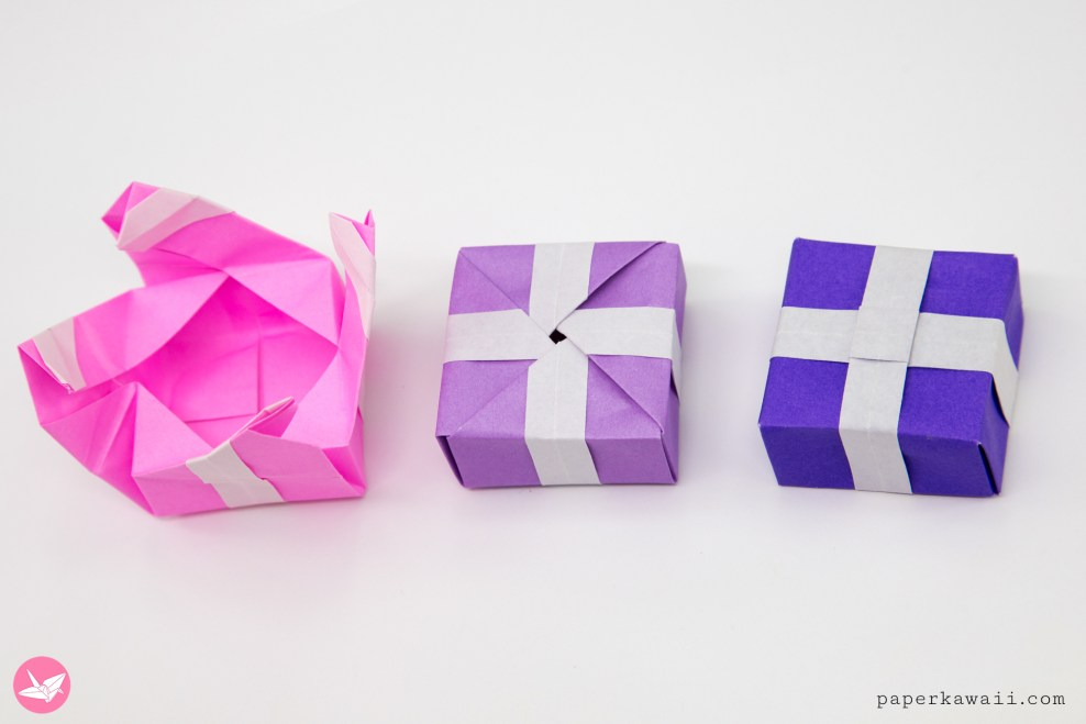 Origami Present Gift Box Tutorial via @paper_kawaii