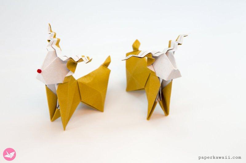 Origami Santa's Sleigh Tutorial via @paper_kawaii