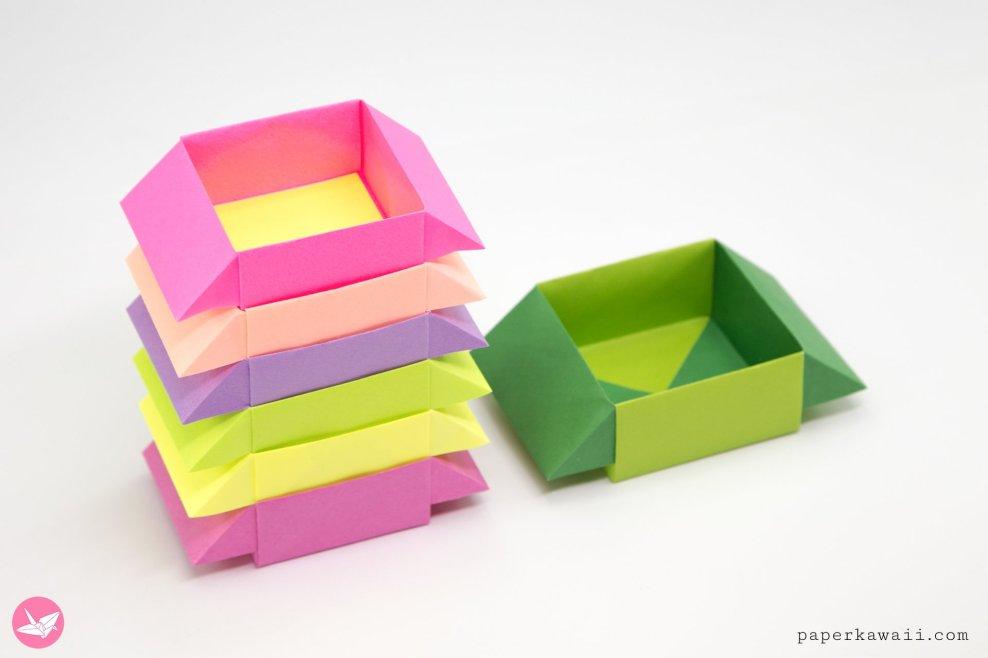 Origami Stackbox Tutorial - Stackable Boxes via @paper_kawaii
