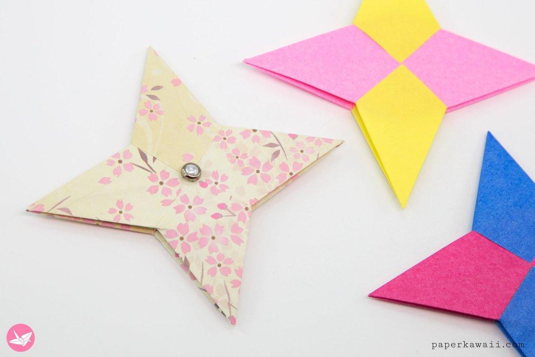Origami Symmetrical Shuriken Star Tutorial via @paper_kawaii