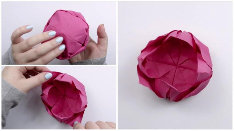 Lotus Napkin via @paper_kawaii