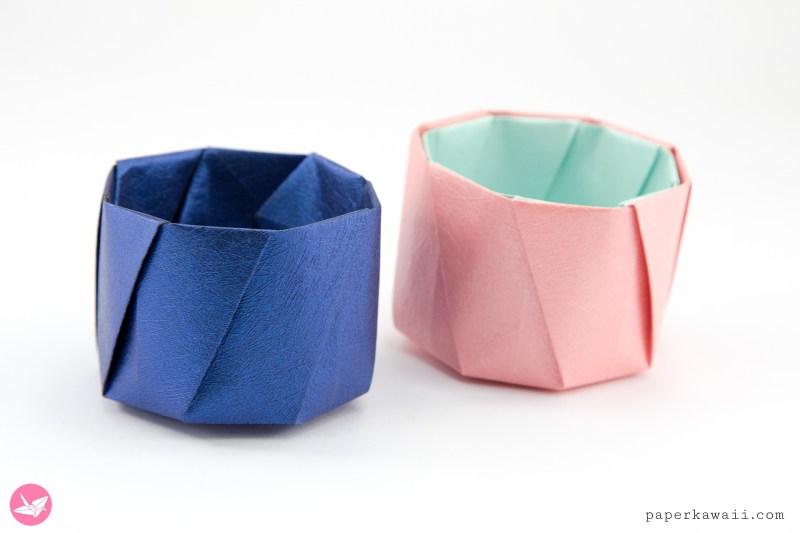 Round Origami Pots Tutorial via @paper_kawaii