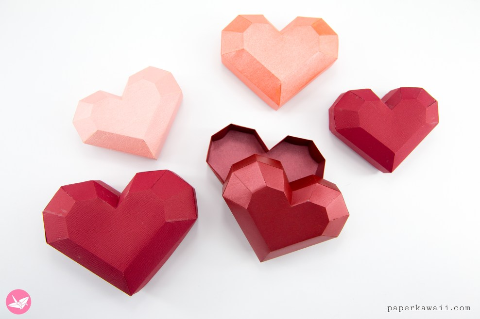 Paper Heart Box Tutorial via @paper_kawaii