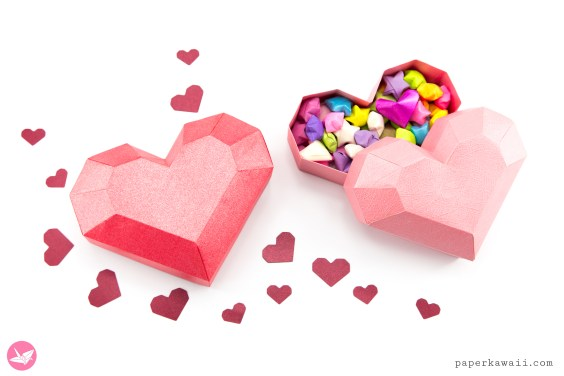 Paper Heart Box Tutorial