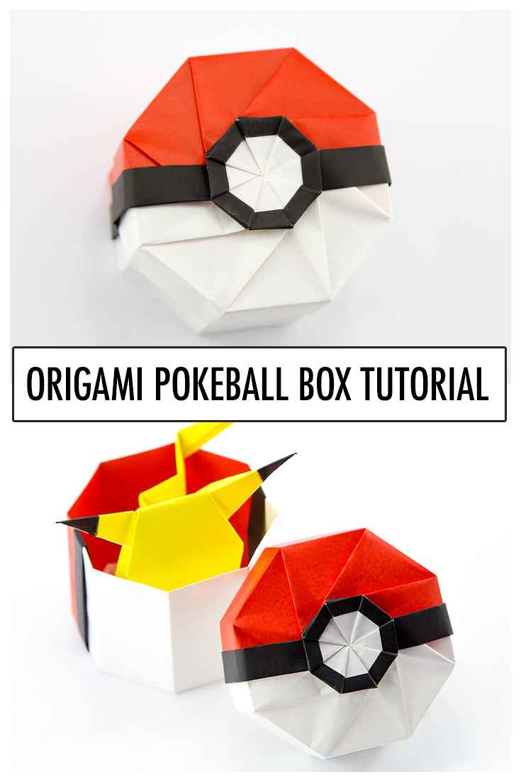 Origami Pokeball Box Tutorial via @paper_kawaii