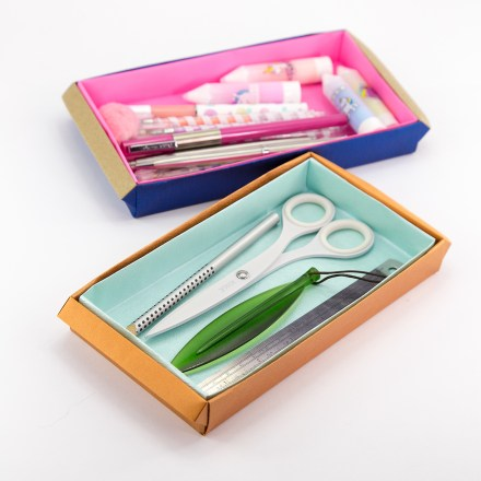Origami Long Tray Tutorial - Box With Handles via @paper_kawaii