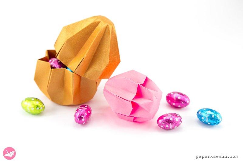Origami Easter Egg Gift Box Tutorial via @paper_kawaii