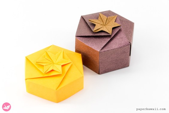 Origami Hinged Gift Box Tutorial - Paper Kawaii - YouTube | 376x564