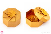 Octagonal Origami Gift Box Tutorial