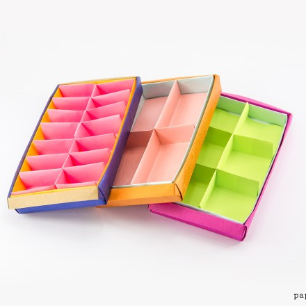 Rectangular Origami Box Divider Tutorial - 3 Versions via @paper_kawaii