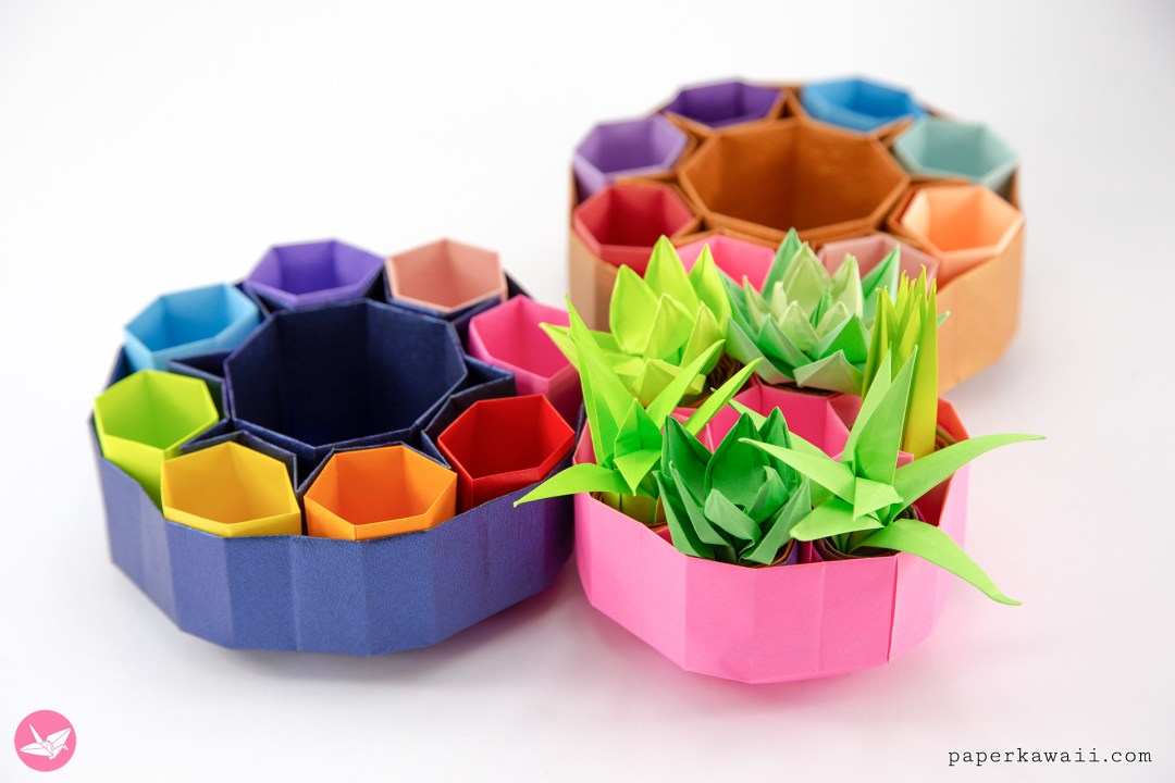 Origami Honeycomb Box Tutorial via @paper_kawaii
