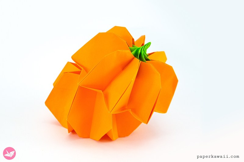 Origami Pumpkin Box Tutorial + Japan Candy Box Giveaway via @paper_kawaii