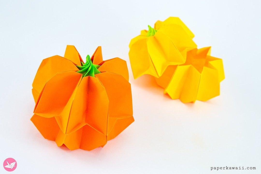 Origami Pumpkin Box Tutorial via @paper_kawaii