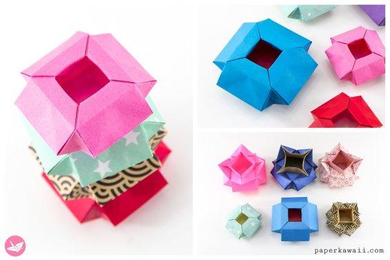 Geometric Origami Pot / Box Tutorial – Verdi's Vase Variation