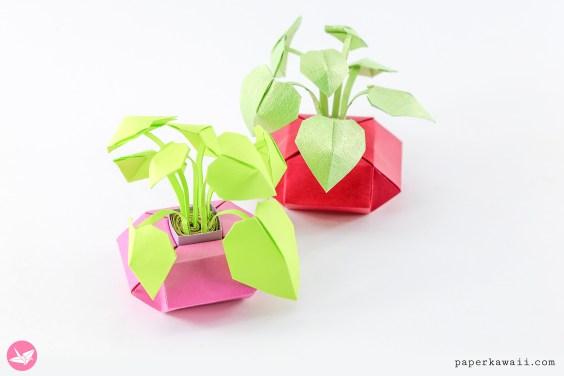 Mini Origami Pot Plants Tutorial – DIY Paper Houseplants
