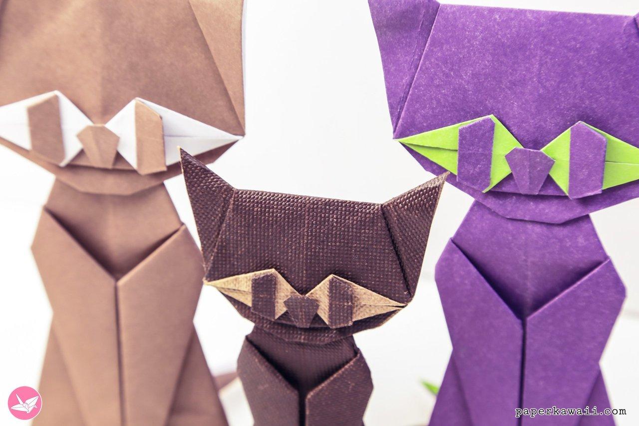 Modular Origami Cat Tutorial via @paper_kawaii