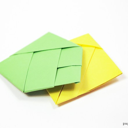 Origami Bamboo Letterfold via @paper_kawaii