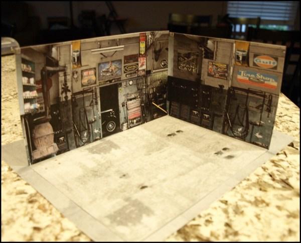 Printable Diorama Templates Garage 1 64 - Exploring Mars