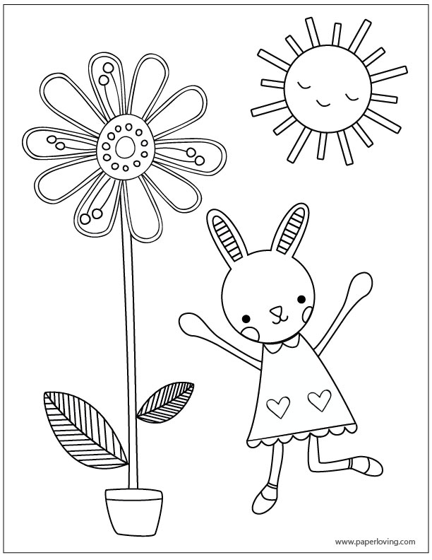 happy first day of spring coloring pages
