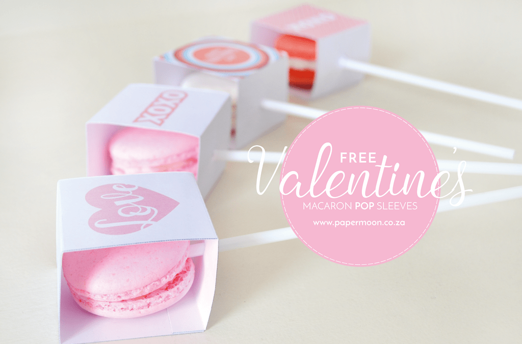 FREE PRINTABLE: Valentine's Macaron Pop Sleeves