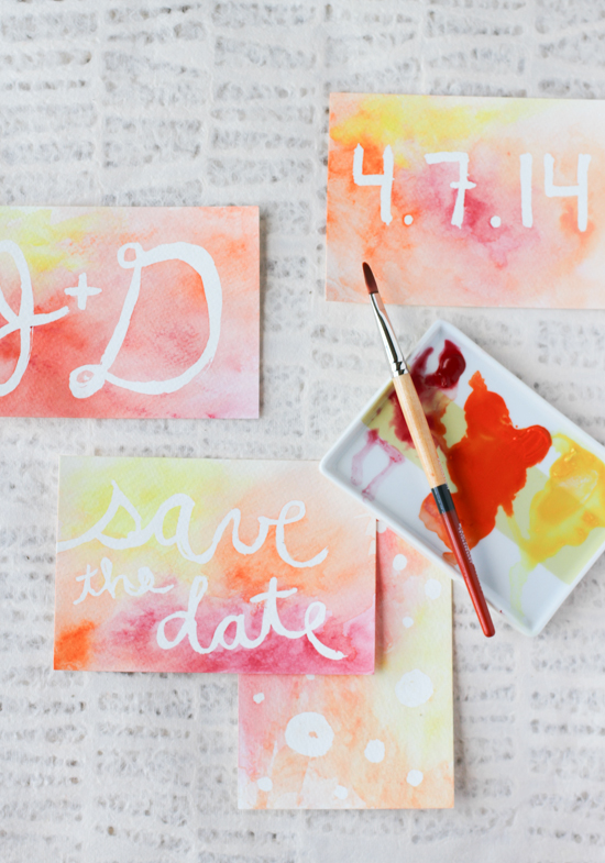 Make This DIY Watercolor Postcard Messages Paper And Stitch