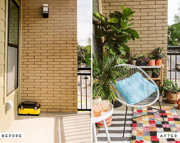 Before And After An Eclectic Balcony Makeover For A Much Needed Blank Space