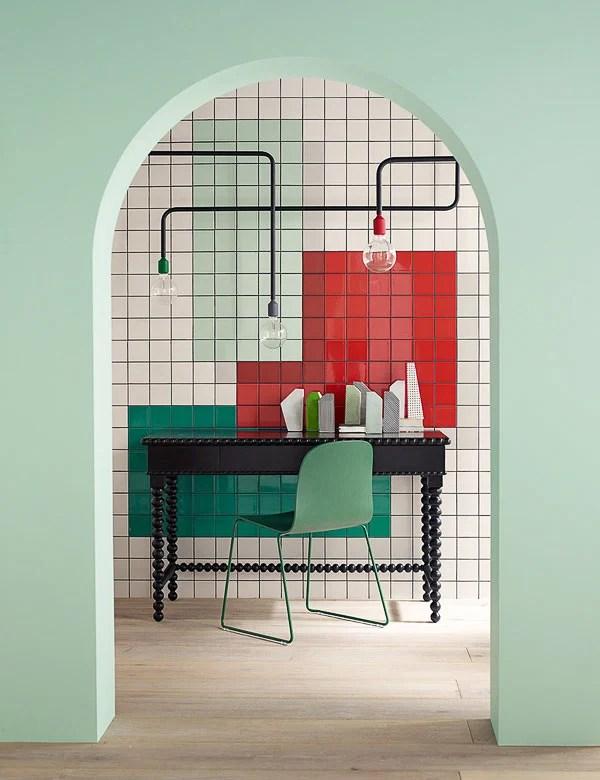alternative ways to use wall tile like