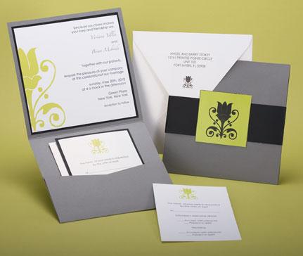 Pocket Invitations Style A1 Wwwpaperpresentationcom