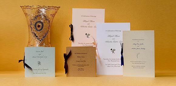 wedding programs design templates