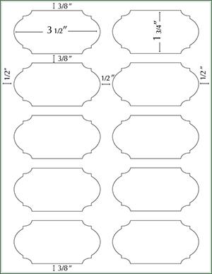 Soho Duofoil Labels 3 1/2 x 1 3/4: www.paperpresentation.com