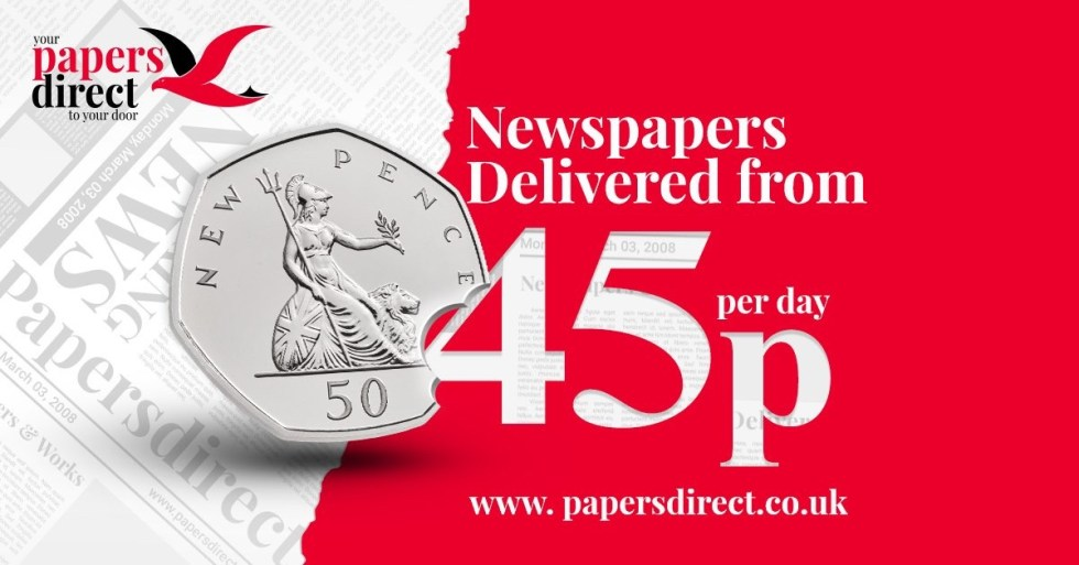 Newspapers delivered from 45p per day