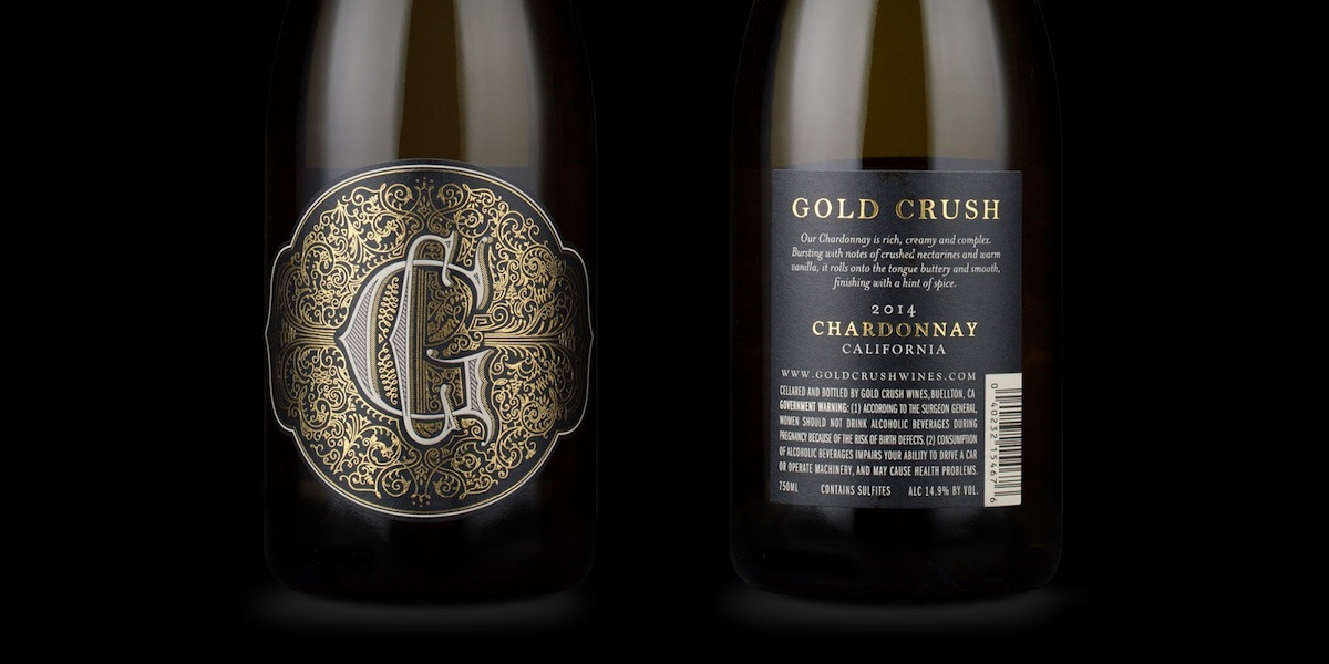 cool packaging gold crush