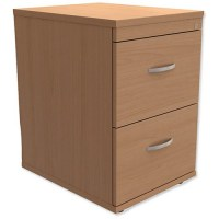 Trexus 2-Drawer Filing Cabinet / Foolscap / Beech