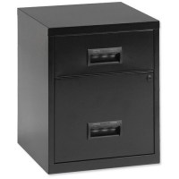 Pierre Henry Metal Filing Cabinet / 2-Drawer / A4 / Black