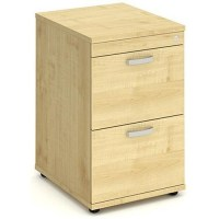 Impulse 2-Drawer Filing Cabinet - Maple