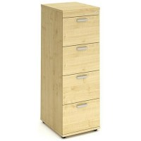 Impulse 4-Drawer Filing Cabinet - Maple